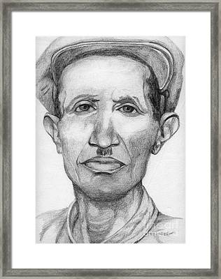 Framed Print featuring the drawing Bashi by Annemeet Hasidi- van der Leij