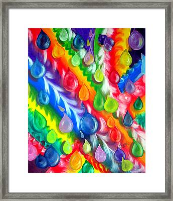 Basic Abstraction Framed Print by Kathern Welsh