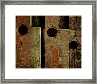 Basic Geometry Framed Print by Odd Jeppesen