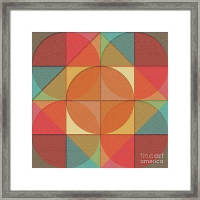 Basic Shapes Framed Print
