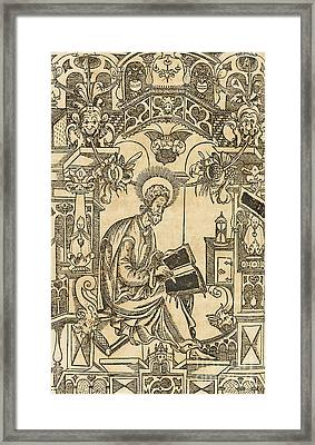 Basil Of Caesarea, Also Called Saint Basil The Great Framed Print
