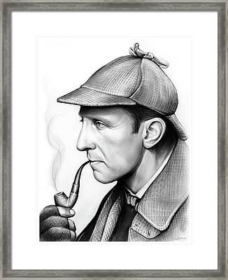 Peter Cushing Framed Print by Greg Joens