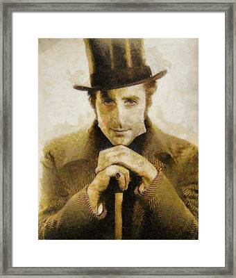 Basil Rathbone Hollywood Actor Framed Print by John Springfield