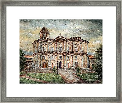 Basilica De San Martin De Tours Framed Print