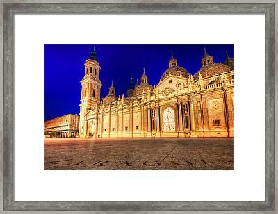Basilica Del Pilar - Zaragoza Framed Print by Nico Trinkhaus