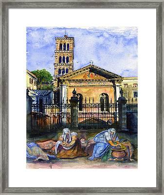Basilica Di Pudenziana Framed Print by John D Benson
