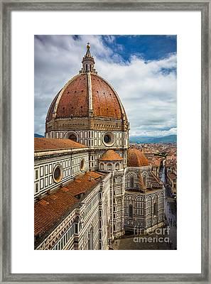 Basilica Di Santa Maria Del Fiore Framed Print by Inge Johnsson