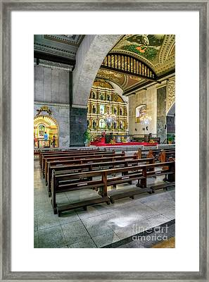 Basilica Minore Del Santo Nino Framed Print by Adrian Evans