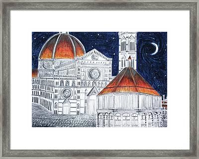 Basilica Nella Notte  Framed Print by Alan MacFarlane