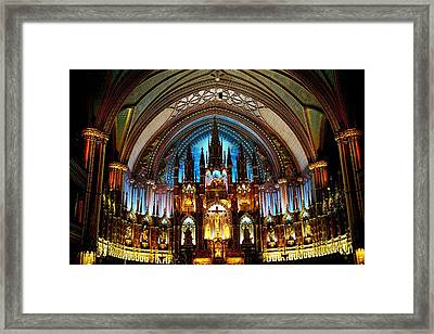 Notre - Dame Basilica - Montreal Framed Print by Juergen Weiss