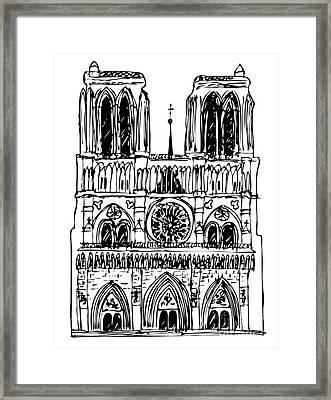 basilica Notre Dame Framed Print by Michal Boubin
