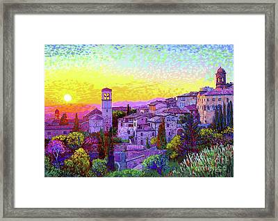 Basilica Of St. Francis Of Assisi Framed Print by Jane Small