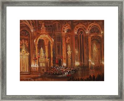 Basilica Of St. Josaphat Framed Print by Tom Shropshire