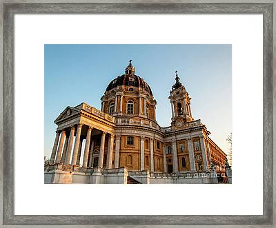 Basilica Of Superga -turin Italy  Framed Print