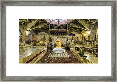 Basilica Of The Annunciation - Nazareth Framed Print by Stephen Stookey