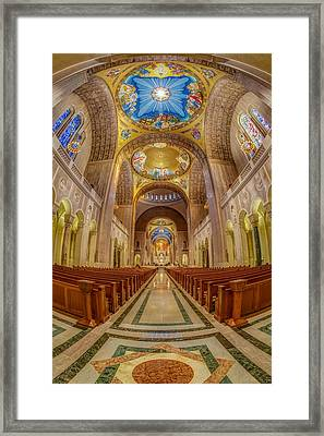 Basilica Of The National Shrine Of The Immaculate Conception II Framed Print by Susan Candelario
