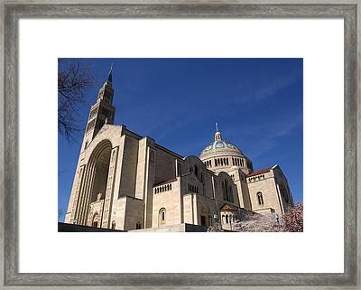 Basilica Of The National Shrine Of The Immaculate Conception Washington Dc Framed Print by Wayne Higgs