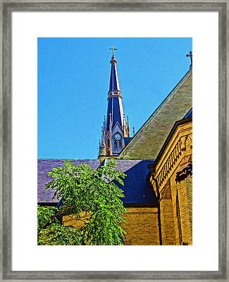 Basilica Of The Sacred Heart Notre Dame Framed Print by Dan Sproul