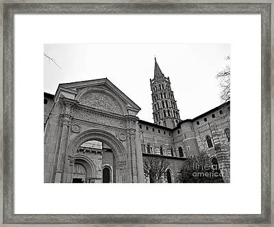 Framed Print featuring the photograph Basilique St Sernin In Toulouse by Cendrine Marrouat