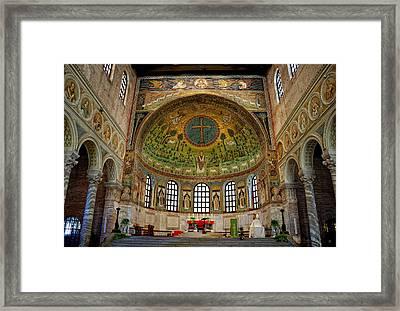 Basilica Of Sant' Apollinare In Classe Framed Print by Nigel Fletcher-Jones