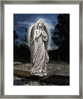 Bask In His Glory Framed Print