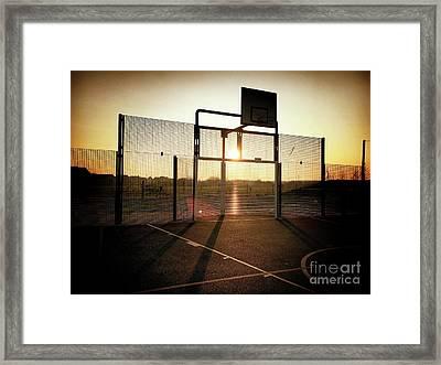 Basket Ball Court Framed Print