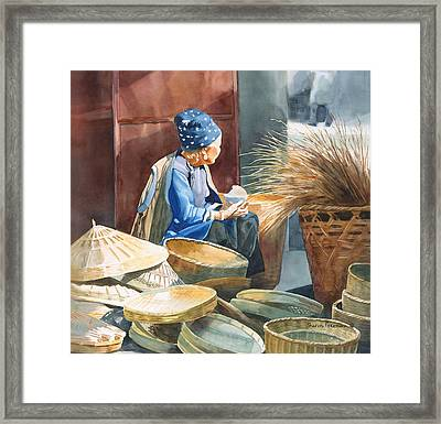 Basket Maker Framed Print by Sharon Freeman