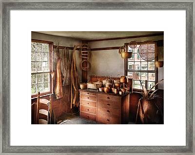 Basket Maker - The Basket Makers House  Framed Print