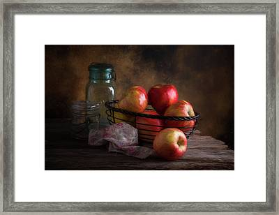 Basket Of Apples Framed Print