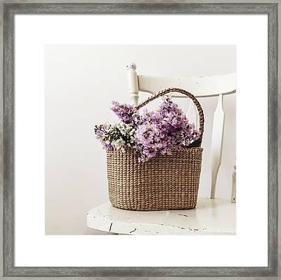 Basket Of Crape Myrtle Framed Print