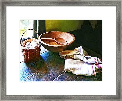 Basket Of Eggs Framed Print by Susan Savad