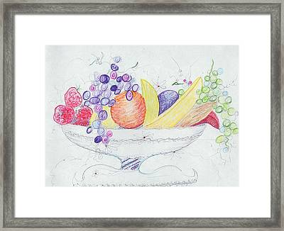 Basket Of Fruit Framed Print by Suzanne  Marie Leclair