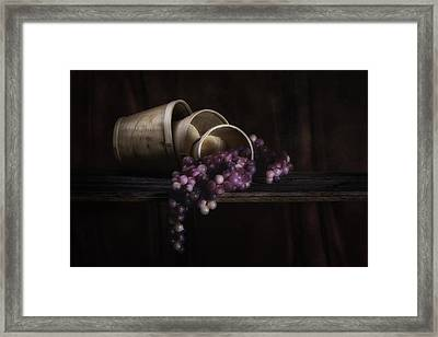 Basket Of Grapes Still Life Framed Print