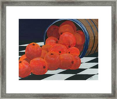 Basket Of Oranges Framed Print