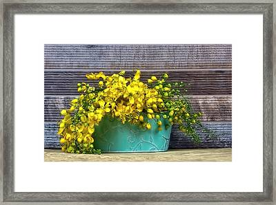 Basket Of Sunshine Framed Print by Chrystyne Novack