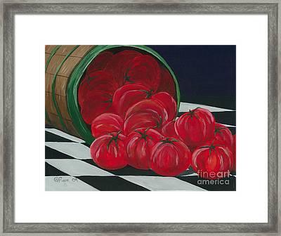Basket Of Tomatoes Framed Print