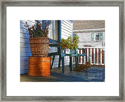 Basket Porch Framed Print by Betsy Zimmerli