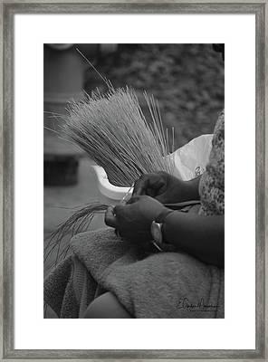 Basket Weaver Framed Print