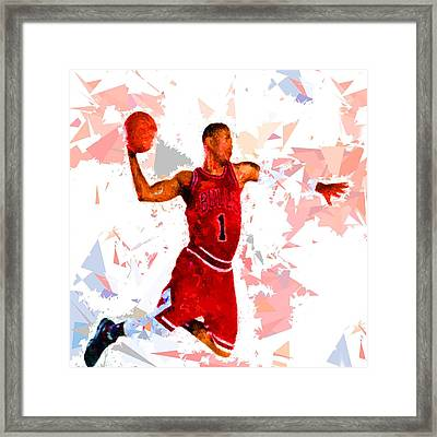 Framed Print featuring the painting Basketball 1 by Movie Poster Prints