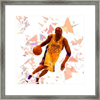 Framed Print featuring the painting Basketball 24 by Movie Poster Prints