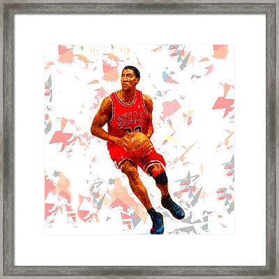 Framed Print featuring the painting Basketball 33 by Movie Poster Prints