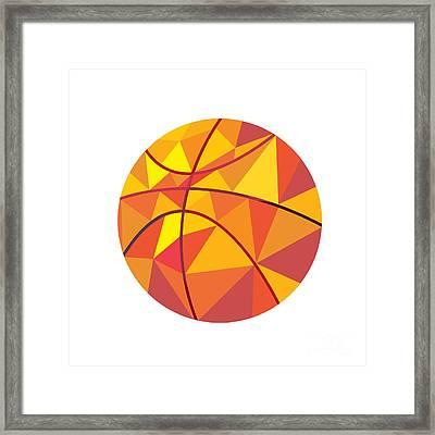 Basketball Ball Low Polygon Framed Print