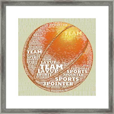 Basketball Framed Print by Brandi Fitzgerald