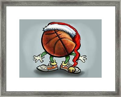 Basketball Christmas Framed Print by Kevin Middleton