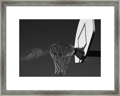 Basketball Court Framed Print by Richard Rizzo