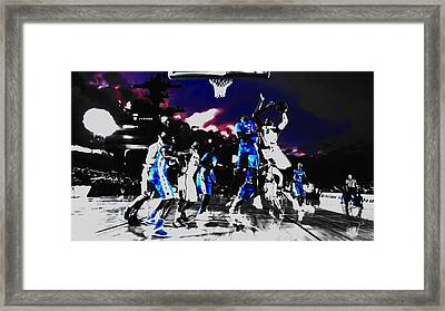 Basketball Game Aboard The Uss Carl Vinson Framed Print