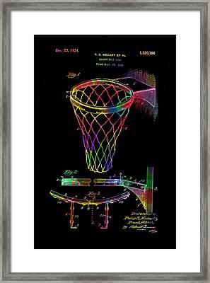 Basketball Goal Vintage Patent 1924 Framed Print