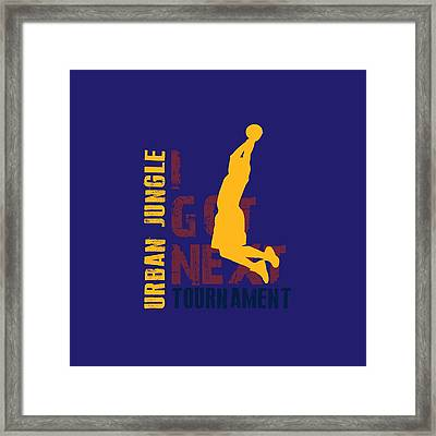 Basketball I Got Next 5 Framed Print by Joe Hamilton