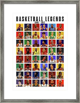 Basketball Legends Framed Print by Semih Yurdabak