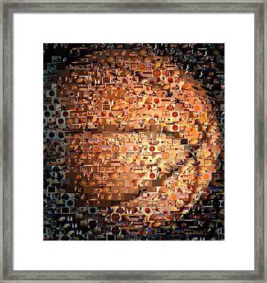 Basketball Mosaic Framed Print